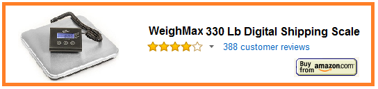 WeighMax 4830 330 Lb Digital Shipping Scale